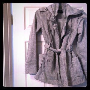 Grey jacket/coat with hoodie